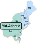 Mid-Atlantic & New England States